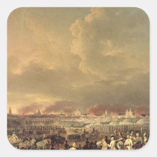 El cerco de Lille de Albert de Saxe-Tachen Pegatina Cuadrada