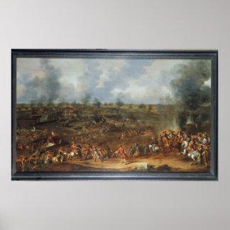 El cerco de Namur, 1692, siglo XVIII Póster