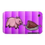 El cerdo come el jamón (el rosa) iPhone 3 protectores