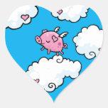 El cerdo del vuelo baila en las nubes etiquetas