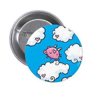 El cerdo del vuelo baila en las nubes pin