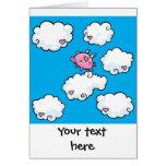 El cerdo del vuelo baila en tarjeta adaptable de l