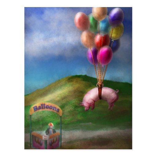 El cerdo del vuelo - niño - cómo me deseo era un p tarjetas postales