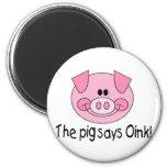 El cerdo dice Oink Iman De Nevera