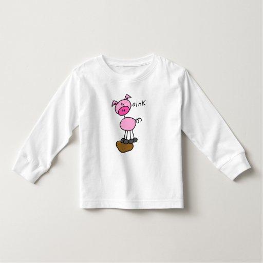 El cerdo dice Oink las camisetas y los regalos Playera