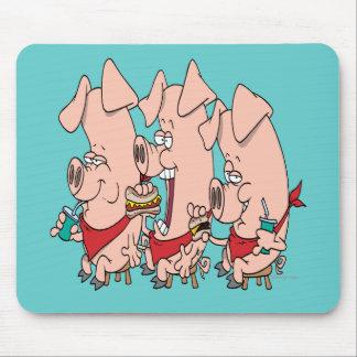 el cerdo divertido hacia fuera va de fiesta el dib alfombrillas de raton
