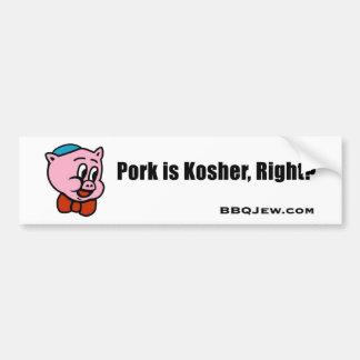 El cerdo es pegatina para el parachoques kosher pegatina para auto