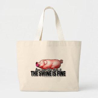 El cerdo está muy bien bolsa