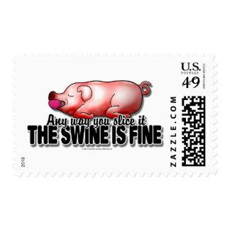 El cerdo está muy bien timbres postales