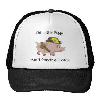 El cerdo este pequeño guarro no es hogar del gorras