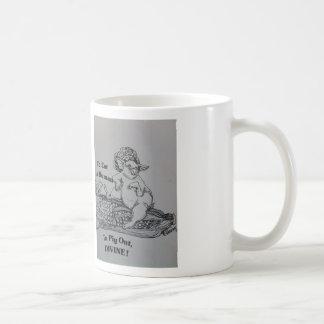 el cerdo hacia fuera asalta tazas de café