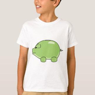 El cerdo verde embroma la camiseta
