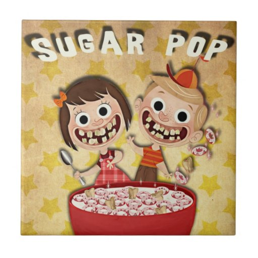 El cereal del azúcar embroma la teja