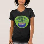 El cereal me hace la camiseta feliz