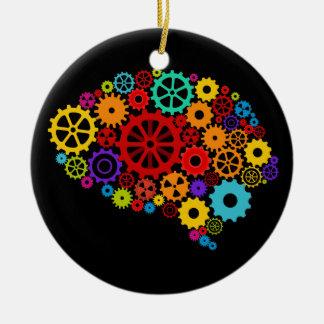 El cerebro adapta el ornamento adorno redondo de cerámica