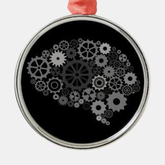 El cerebro adapta el ornamento adorno redondo plateado
