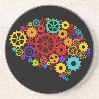 El cerebro adapta el práctico de costa posavasos personalizados