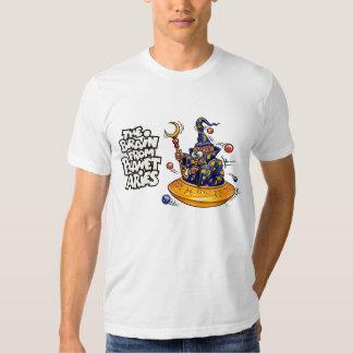 El cerebro de la camiseta del blanco del aries del playeras