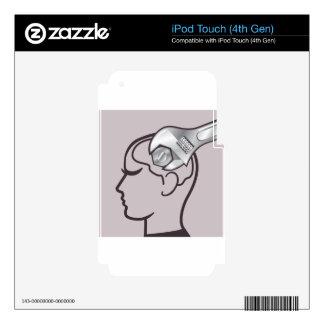 El cerebro de la llave ajustable ajusta iPod touch 4G calcomanías