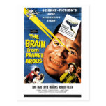 El cerebro de la postal de Arous del planeta