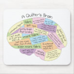 El cerebro de Quilter Alfombrillas De Raton