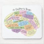 El cerebro de Quilter Tapetes De Ratón