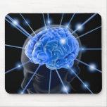 El cerebro emite Mousepad Alfombrilla De Ratones