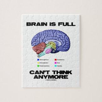 El cerebro es lleno no puede pensar más (la anatom puzzle