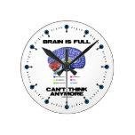 El cerebro es lleno no puede pensar más (la anatom reloj de pared