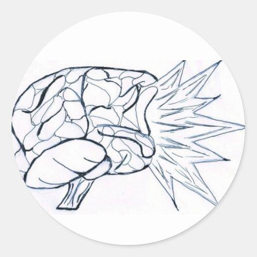 El cerebro estalla al pegatina (simple)