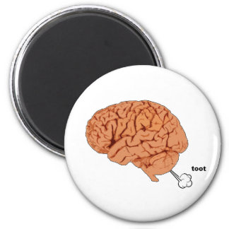 El cerebro fart imán redondo 5 cm