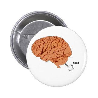 El cerebro fart pin redondo de 2 pulgadas