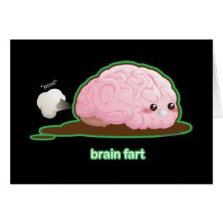 El cerebro Fart Tarjeta De Felicitación