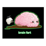 El cerebro Fart Tarjeta Postal