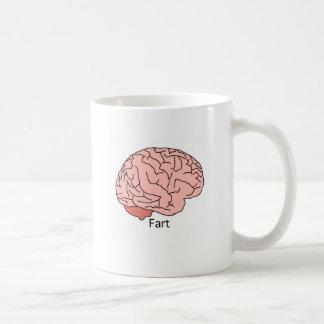 El cerebro Fart Taza De Café