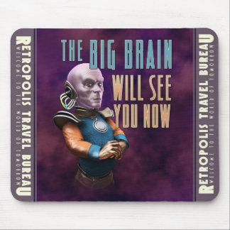 El cerebro grande ahora le verá cojín de ratón alfombrilla de ratón