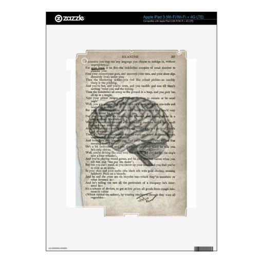 el cerebro poderoso iPad 3 skins