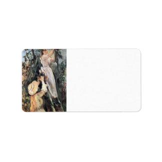 El cerezo de Berthe Morisot Etiqueta De Dirección