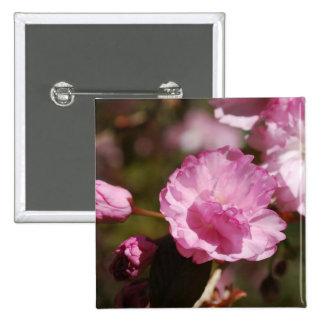 El cerezo florece Pin Pin Cuadrada 5 Cm