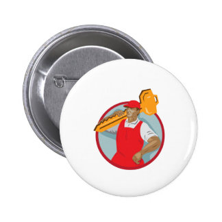 El cerrajero lleva el círculo dominante WPA Pin Redondo De 2 Pulgadas