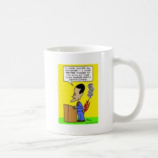 el certificale del nacimiento de la fragua de obam tazas de café
