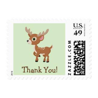El cervatillo, ciervo del bebé le agradece sello