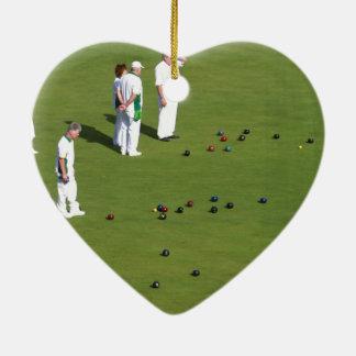 El césped rueda Inglaterra Adorno Navideño De Cerámica En Forma De Corazón