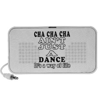 El cha del cha de Cha no es apenas una danza que e Notebook Altavoz