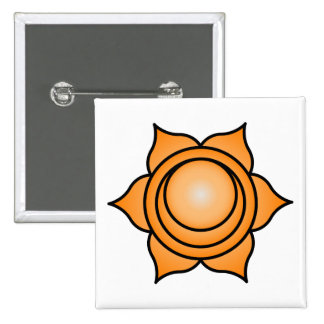 El Chakra sacro Pin Cuadrado