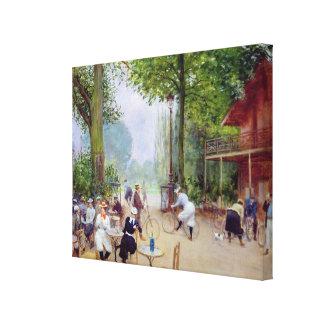 El chalet du Cycle en el Bois de Boulogne Impresión En Lienzo