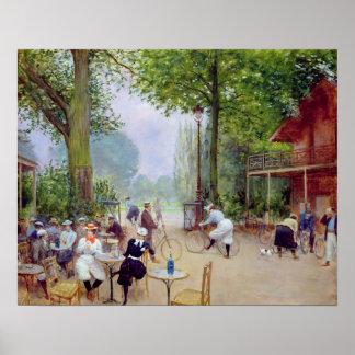 El chalet du Cycle en el Bois de Boulogne Póster