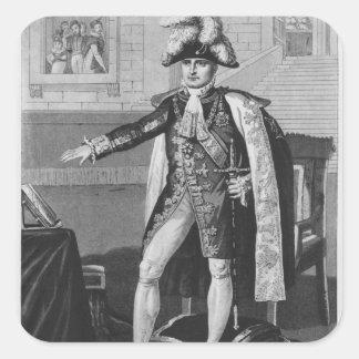 """El """"champ del Mai"""" o emperador Napoleon I Pegatina Cuadrada"""