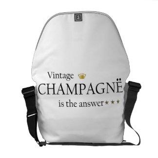 El champán del vintage es la bolsa de mensajero de bolsas de mensajeria