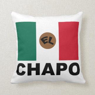 El Chapo Mexican flag Throw Pillow